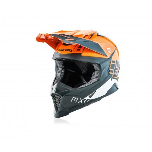 Шолом ACERBIS X-RACER VTR помаранчевий/сірий