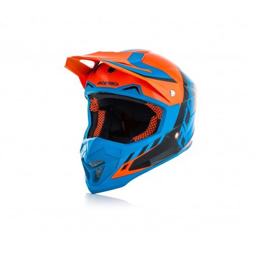 Шолом ACERBIS PROFILE 4 помаранчевий/синій