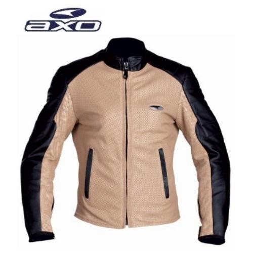 мото куртка жіноча Axo Jair lady leather  beige black size L