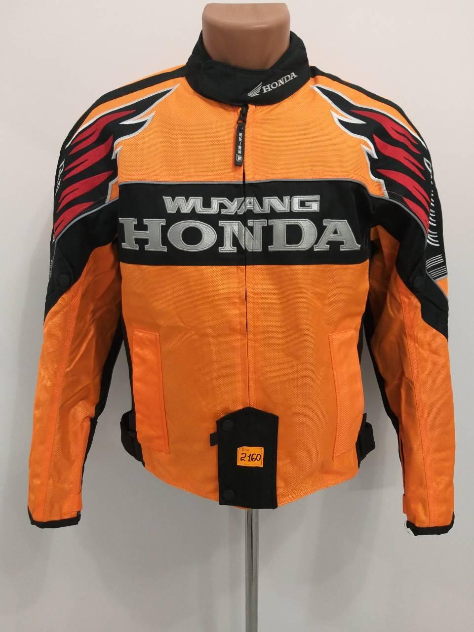 Мотокуртка Honda (текстиль) (size:L, оранжево-чорна).