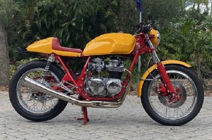 Необыкновенный коллекционный мотоцикл! HONDA CB 550 Cafe Rcr