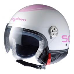 Шолом Scarabeo білий-розовий