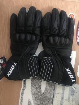 Шкіряні рукавиці TORX чорні