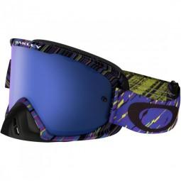 Митоциклетная маска Oakley O2 MX / RAIN OF TERROR blue purple, Ice iridium/clear