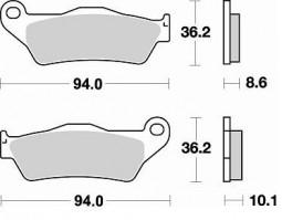 Гальмівні колодки задні Braking для BMW R 1200 GS Adventure (2010-2012)