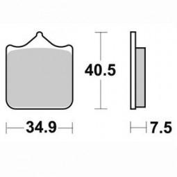Гальмівні колодки передні Braking для TRIUMPH Speed Triple 1050 (2008-2010)