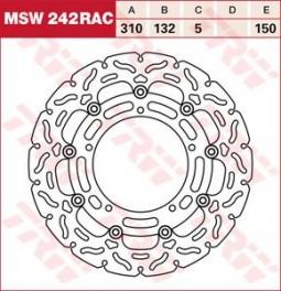 Спортивні гальмівні диски TRW RAC для YAMAHA FZS - Fazer | FZ 8 N  (2010-2015)