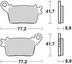Гальмівні колодки задні для HONDA CBR 600RR 09-12