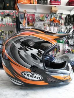 Шолом кросовий VEMAR оранжевий (size:XL).