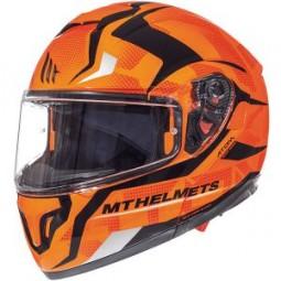 Мотошлем модуляр MT Helmets ATOM DIVERGENCE gloss fluor oran