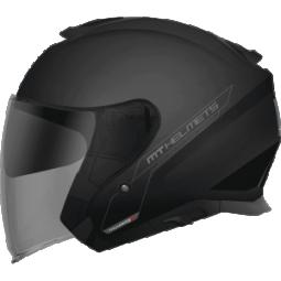 Мотошлем полулицевик MT Helmets THUNDER 3 SV Jet solid gloss
