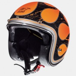 Мотошлем полулицевик MT Helmets Le Mans 2 SV FLAMING gloss f