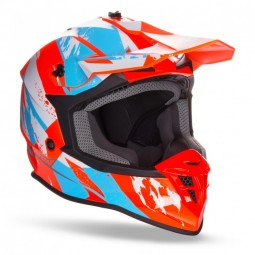 Шлем GEON 633 MX Fox Кросс Black /Neon Orange