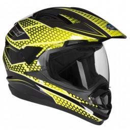 Шлем GEON 714 Дуал-Спорт Trek Black/Yellow