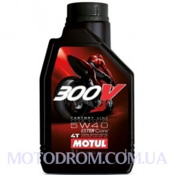 MOTUL 300V 4T FACTORY LINE ROAD RACING SAE 5W40 1 літр