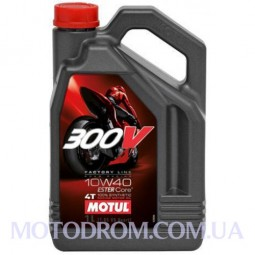 Масло MOTUL 300V FACTORY LINE ROAD RACING SAE 10W40