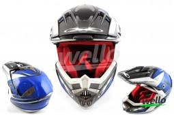 Шлем кроссовый  разноцветный матовый X-D