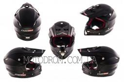 Шлем кроссовый MX456 size:XXXL, черный матовый, LS-2