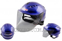 Шлем открытый (аэроформа, черный визор)  LS2