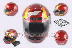 Шлем-интеграл KAVIR (красно-желтый)