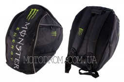 Рюкзак (черно-зеленый, зауженный) MONSTER ENERGY