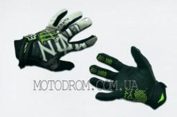 Перчатки FOX (mod:Monster energy, size:M, черно-белые)
