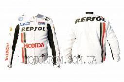 Мотокуртка REPSOL (текстиль) (mod:1, size:L, белая)