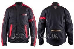 Мотокуртка SCOYCO (текстиль) (size:XL, черно-красная)