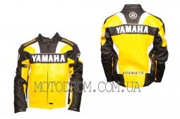 Мотокуртка YAMAHA (кожзам) (size:XXXL, желтая)