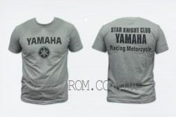 Футболка (size:XL, mod:Club, 100% хлопок, серая) YAMAHA