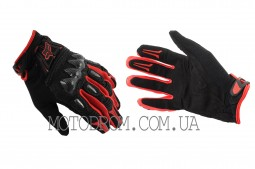 Перчатки FOX BOMBER (mod:FX-5, size:XL, черно-красные)