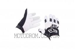 Перчатки FOX DIRTPAW (mod:030, size:XL, черно-белые)