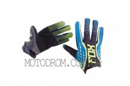Перчатки DIRTPAW (mod:035, size:M, черно-синие) FOX