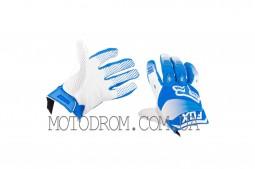 Перчатки DIRTPAW (mod:038, size:L, синя-белые) FOX