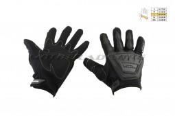 Перчатки SCOYCO (mod:MC-08, size:L, черные, текстиль)