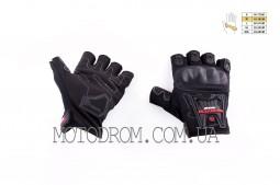 Перчатки без пальцев (mod:MC-12D, size:M, черные, текстиль)