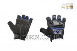 Перчатки без пальцев ( size:L, синие, текстиль)  SCOYCO