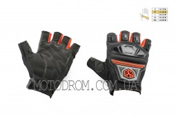 Перчатки без пальцев (size:M, красные, текстиль) SCOYCO