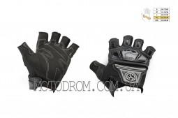 Перчатки без пальцев (size:XL, черные, текстиль) SCOYCO