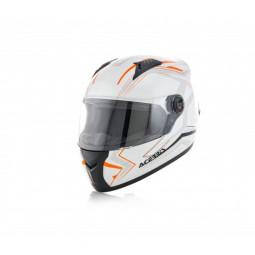 Шолом ACERBIS FS 807 FULL FACE білий-помаранчевий (size:M)