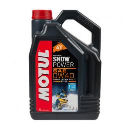 Масло для 4-такних снігоходів 4T SNOWPOWER 0W40 4 літри