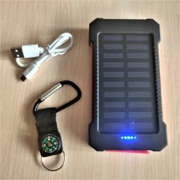 Павербанк Solar 10000 mAh 2 USB , micro USB, Type-C